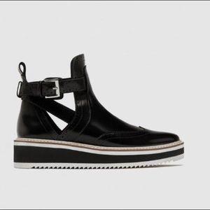 Zara | Flatform Open Ankle Booties NWT
